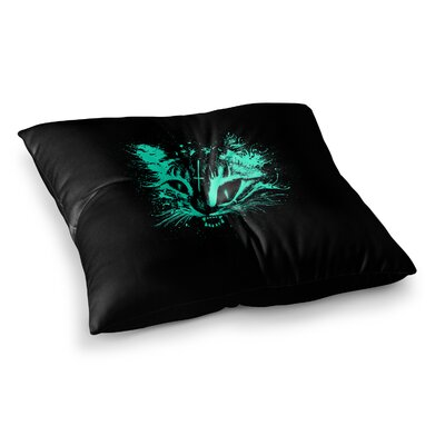 BarmalisiRTB Night Wolf Illustration Square Floor Pillow Size: 26 x 26