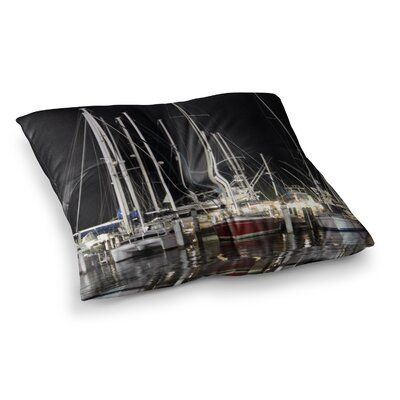 Philip Brown Dinner Key Marina Coastal Square Floor Pillow Size: 23 x 23