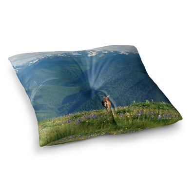 Robin Dickinson Natures Calling Square Floor Pillow Size: 26 x 26