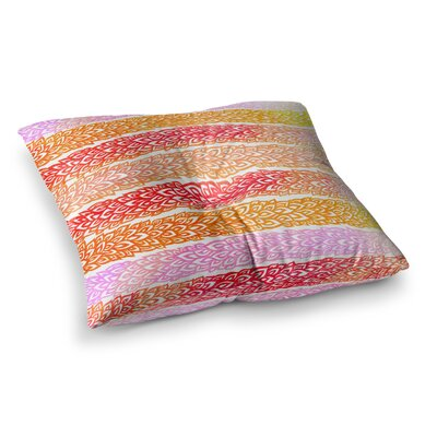 Pom Graphic Design Leafs from Paradise Square Floor Pillow Size: 23 x 23, Color: Orange/Red