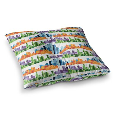 Stephanie Vaeth Australian Cities Square Floor Pillow Size: 26 x 26