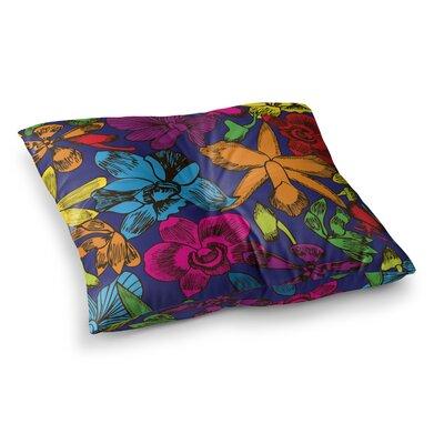 Yenty Jap Lovely Orchids Floral Square Floor Pillow Size: 23 x 23
