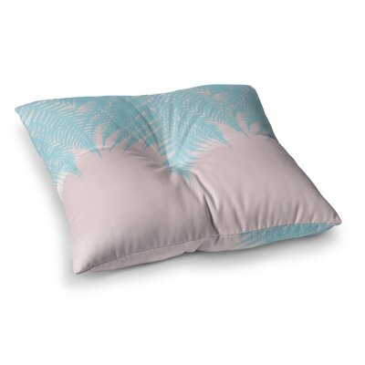 Project M Fern Digital Square Floor Pillow Size: 23 x 23, Color: Aqua/Pink
