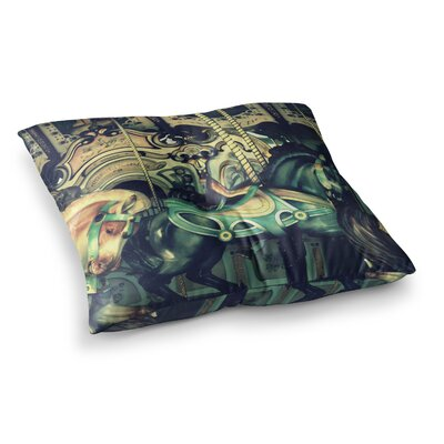 Robin Dickinson Carousel Horse Square Floor Pillow Size: 26 x 26