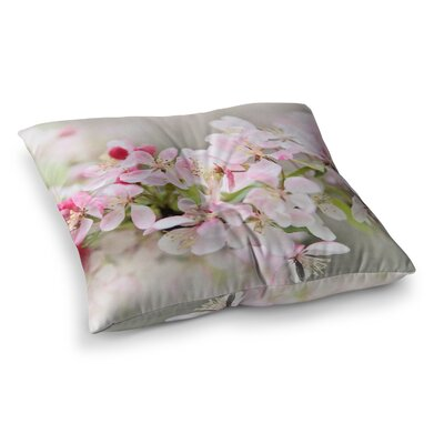 Sylvia Cook April Flowers Square Floor Pillow Size: 26 x 26