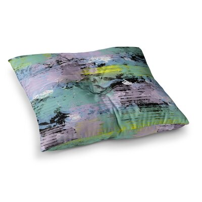 Vasare Nar Watercolor Texture Square Floor Pillow Size: 23 x 23