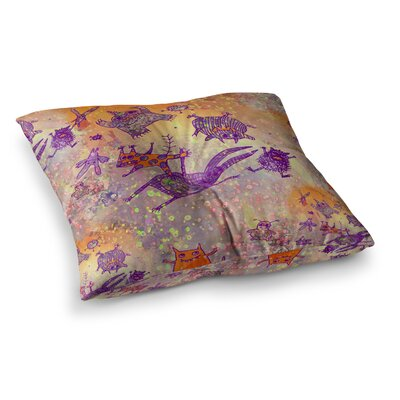 Marianna Tankelevich Levitating Monsters Square Floor Pillow Size: 23 x 23
