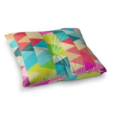 Tobe Fonseca Bubblegum Triangles Pattern Digital Square Floor Pillow Size: 23 x 23