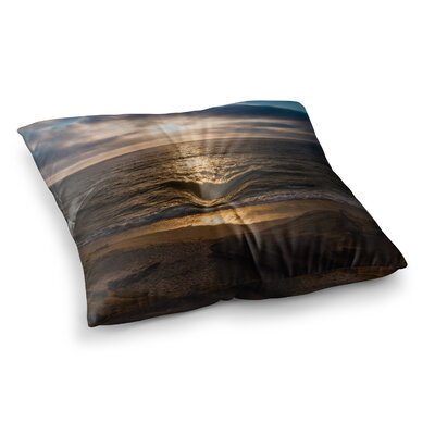 Nick Nareshni La Jolla Sunset on Beach Square Floor Pillow Size: 23 x 23