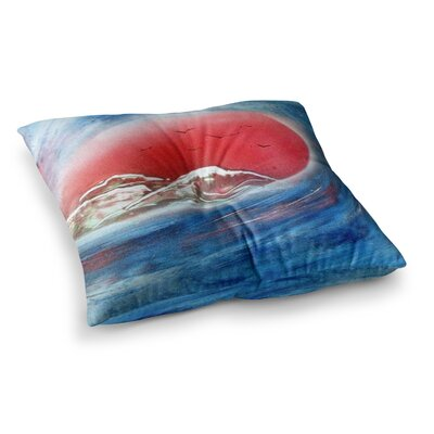 Infinite Spray Art Tubular Square Floor Pillow Size: 26 x 26