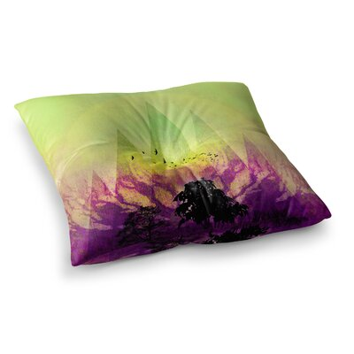 Pia Schneider Trees under Magic Mountain Square Floor Pillow Size: 23 x 23