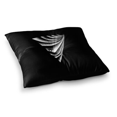 BarmalisiRTB Triangle Desert Digital Square Floor Pillow Size: 26 x 26