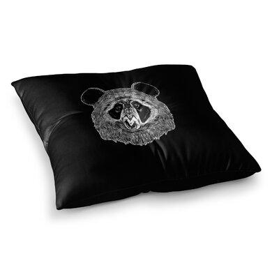 BarmalisiRTB Bigfoot Panda Digital Square Floor Pillow Size: 26 x 26