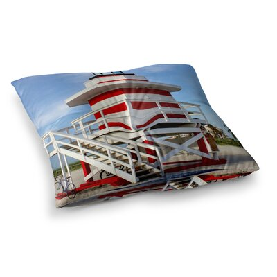 Philip Brown Lighthouse Lifeguard Stand Photography Square Floor Pillow Size: 26 x 26