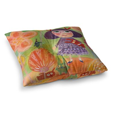Marianna Tankelevich Flowerland Square Floor Pillow Size: 26 x 26