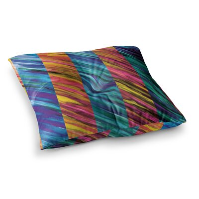 Theresa Giolzetti Set Stripes I Square Floor Pillow Size: 26 x 26, Color: Pink