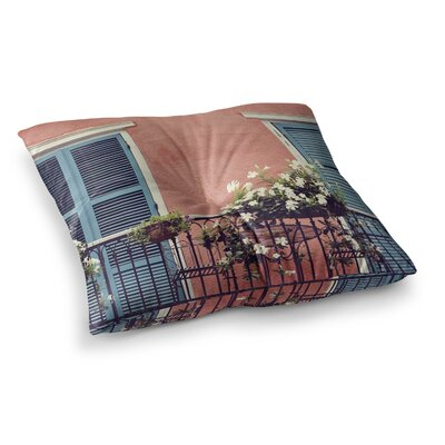 Sylvia Cook New Orleans Balcony Square Floor Pillow Size: 23 x 23