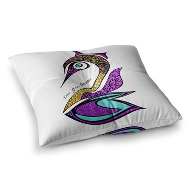 Pom Graphic Design Dreams Swan Square Floor Pillow Size: 23 x 23