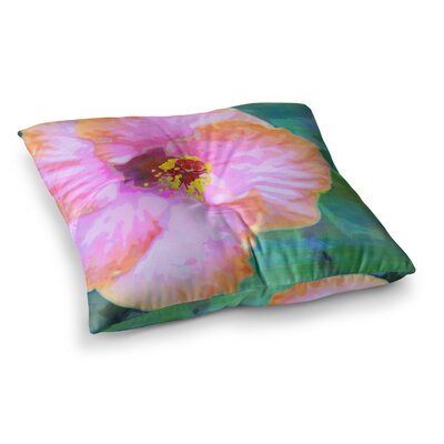 Sylvia Cook Hibiscus Square Floor Pillow Size: 23 x 23