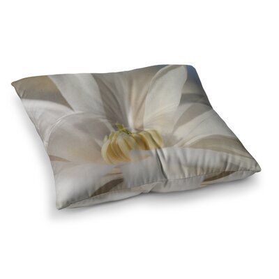 Robin Dickinson First Signs Floral Square Floor Pillow Size: 23 x 23