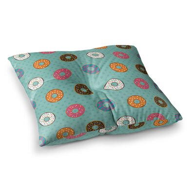 Juan Paolo Doughnut Brigade Food Square Floor Pillow Size: 23 x 23