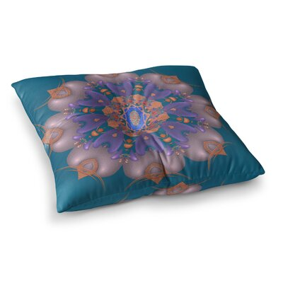 Michael Sussna Whisker Lily Square Floor Pillow Size: 23 x 23