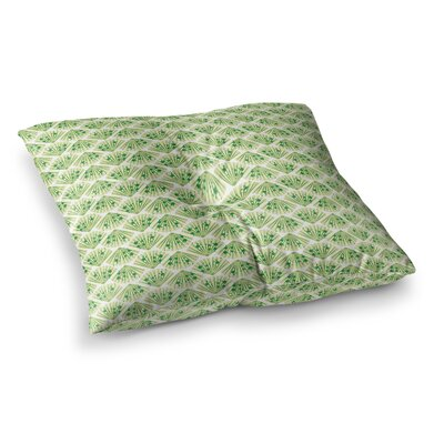 Neelam Kaur Floral Fans Digital Square Floor Pillow Size: 23 x 23