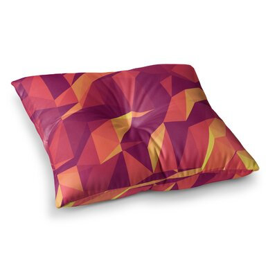 Strawberringo Abstract Mountains Square Floor Pillow Size: 23 x 23