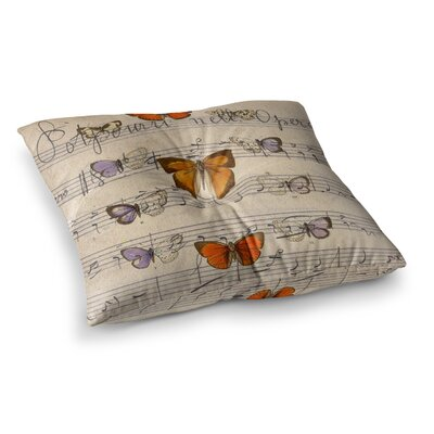 Suzanne Carter Butterfly Opera Music Square Floor Pillow Size: 26 x 26