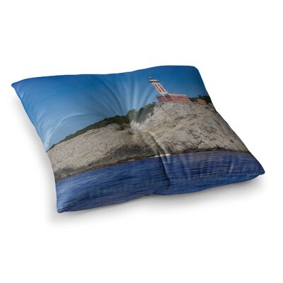 Violet Hudson Happy Lighthouse Square Floor Pillow Size: 23 x 23