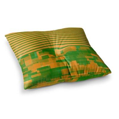 Trebam Listati V2 Modern Vector Square Floor Pillow Size: 23 x 23