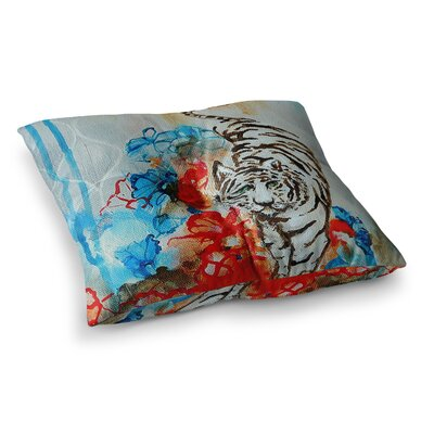 Sonal Nathwani Tiger Square Floor Pillow Size: 23 x 23