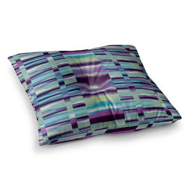 Nina May Samanna Tribal Square Floor Pillow Size: 26 x 26, Color: Blue