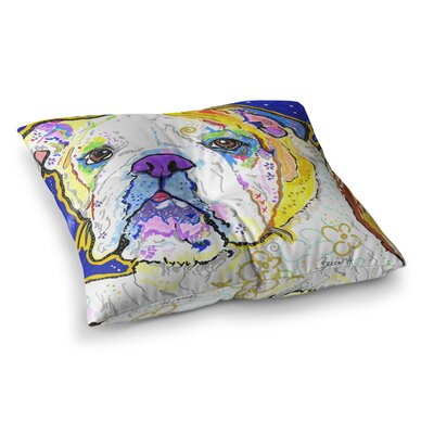 Rebecca Fischer Mavis Bull Dog Square Floor Pillow Size: 23 x 23
