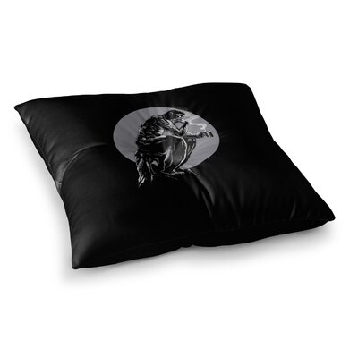 BarmalisiRTB The Thinker Coffee Digital Square Floor Pillow Size: 26 x 26