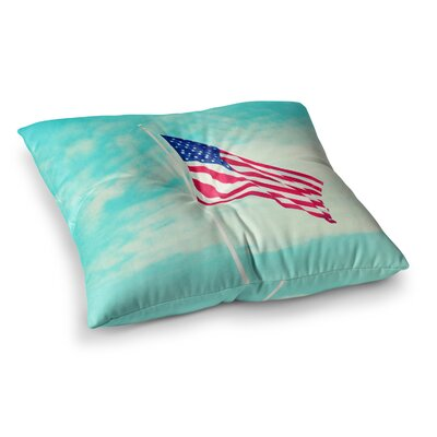 Robin Dickinson USA Colors Flag Square Floor Pillow Size: 26 x 26