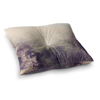 Sylvia Coomes Foggy Mountain Landscape Square Floor Pillow Size: 26 x 26