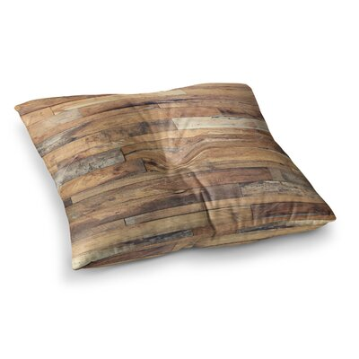 Susan Sanders Rustic Wood Photography Square Floor Pillow Size: 23 x 23, Color: Natural Wood