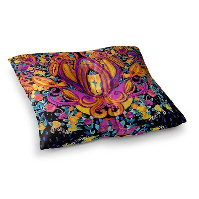 Nikki Strange Paisley Garden Wam Square Floor Pillow Size: 23