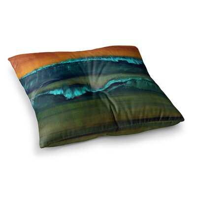 Nathan Gibbs Leaf Tea Square Floor Pillow Size: 26 x 26