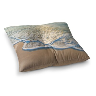 Susan Sanders Ocean Beach Water Photography Square Floor Pillow Size: 23 x 23