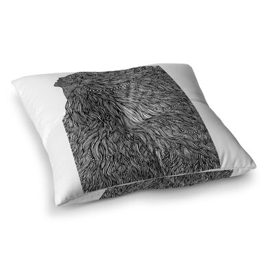 BarmalisiRTB Bushy Digital Square Floor Pillow Size: 23 x 23