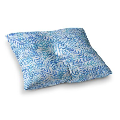 Strawberringo Square Floor Pillow Size: 23 x 23, Color: Light Blue
