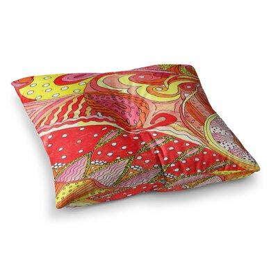 Rosie Brown Swirls Square Floor Pillow Size: 26 x 26