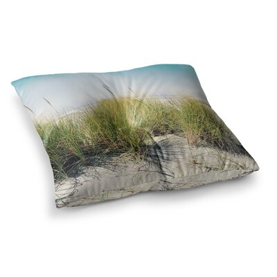 Sylvia Cook Dune Grass Coastal Photography Square Floor Pillow Size: 26 x 26