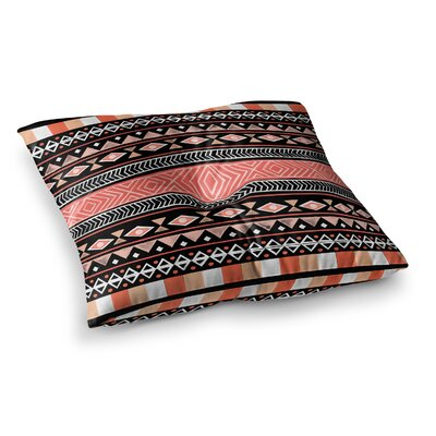 Skye Zambrana Mojave Square Floor Pillow Size: 26 x 26, Color: Black