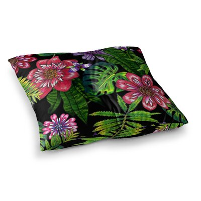 Victoria Krupp Doodle Tropic Square Floor Pillow Size: 23 x 23