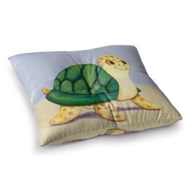 Padgett Mason Slow and Steady Square Floor Pillow Size: 23 x 23