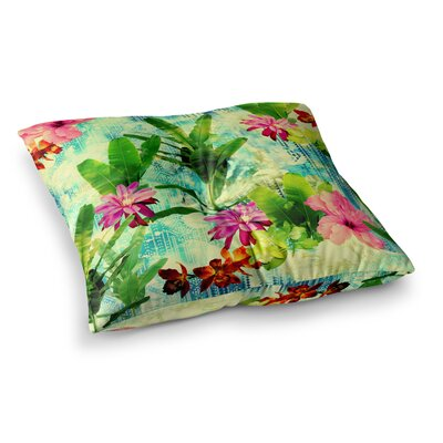 Victoria Krupp Tropical Lagoon Illustration Square Floor Pillow Size: 23 x 23