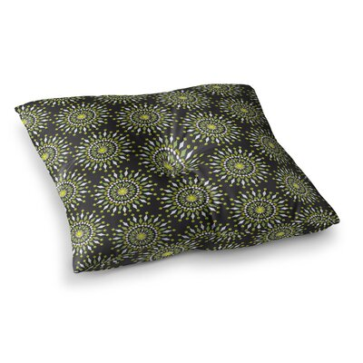 Neelam Kaur Floral Mandala Digital Square Floor Pillow Size: 26 x 26